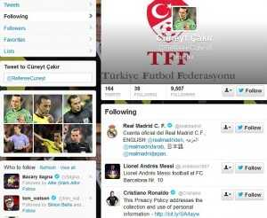 Grabs from Cuneyt Cakir's twitter page