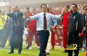 AS Roma's coach Fabio Capello (C) tries