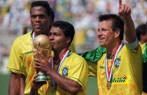 Brazilian forward Romario kisses the FIF